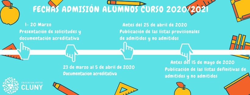 Fechas Admisión 2020/2021